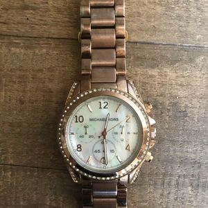 Michael Kors Rose Gold w Abalone Iridescent Face